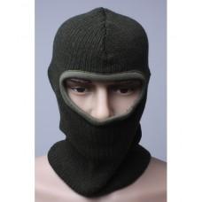 """Шлем-маска """"Балаклава"""" (оливковая) вязаная, п/ш"""