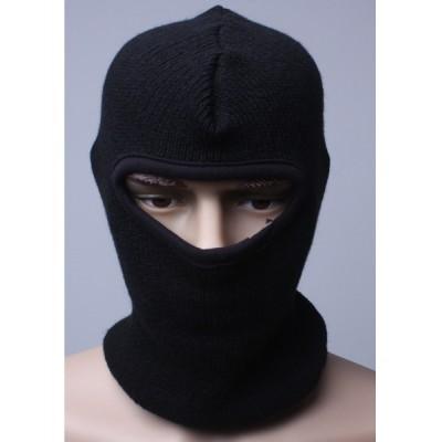 "Шлем-маска ""Балаклава"" черная зимняя"