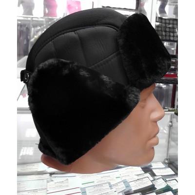 Мужская зимняя меховая шапка, черный цвет
