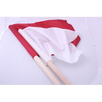 Флажки сигнальные в чехле (красный и белый)