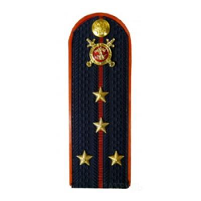Погоны Полиция с фурнитурой темно-синие (Капитан)