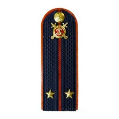 Погоны Полиция с фурнитурой темно-синие (Лейтенант)