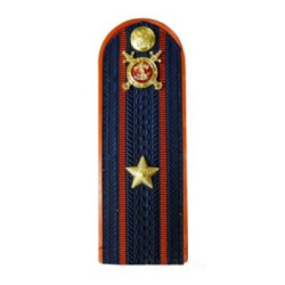 Погоны Полиция с фурнитурой темно-синие (Майор)
