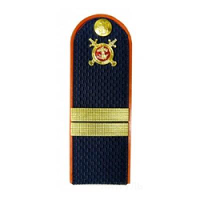 Погоны Полиция с фурнитурой темно-синие (Младший сержант)