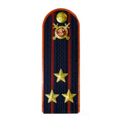 Погоны Полиция с фурнитурой темно-синие (Полковник)