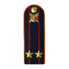 Погоны Полиция с фурнитурой темно-синие (Подполковник)