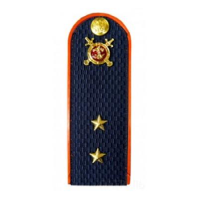 Погоны Полиция с фурнитурой темно-синие (Прапорщик)