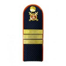 Погоны Полиция с фурнитурой темно-синие (Сержант)