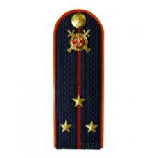 Погоны Полиция с фурнитурой темно-синие (Старший лейтенант)