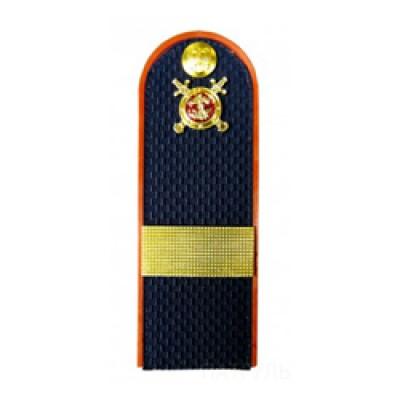 Погоны Полиция с фурнитурой темно-синие (Старший сержант)