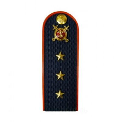 Погоны Полиция с фурнитурой темно-синие (Старший прапорщик)