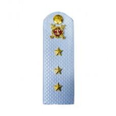 Погоны Полиция с фурнитурой на голубую рубашку (Старший прапорщик)