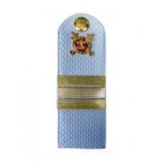 Погоны Полиция с фурнитурой на голубую рубашку (Сержант)