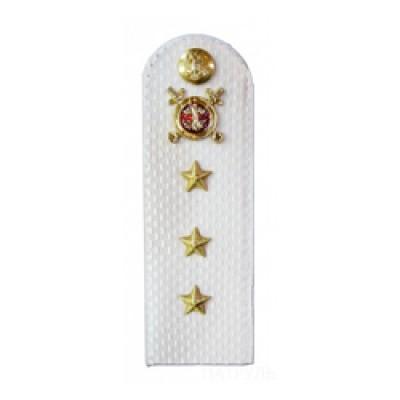 Погоны Полиция с фурнитурой на белую рубашку (Старший прапорщик)