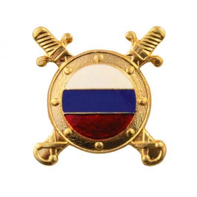 Эмблема Внутренняя служба нов/обр. золото с эмалью