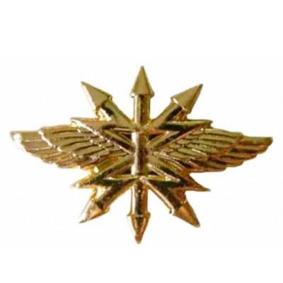 Эмблема Войска связи нового образца золото