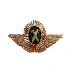 Кокарда РЖД средняя (овал с крыльями)