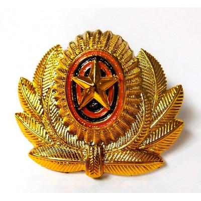 Кокарда ВС РФ большая золото