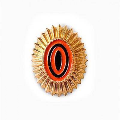Кокарда ВС РФ малая нового образца золото