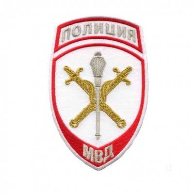 Шеврон вышитый Полиция МВД Начальник территориального органа, белый