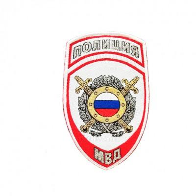 Шеврон вышитый Полиция МВД ООП,  белый