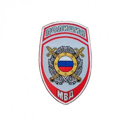Шеврон вышитый Полиция МВД ООП, серый