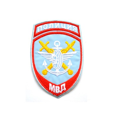Шеврон вышитый Полиция МВД Транспортная полиция, голубой