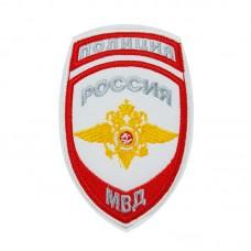 Шеврон вышитый Внутренняя служба МВД (общий), белый