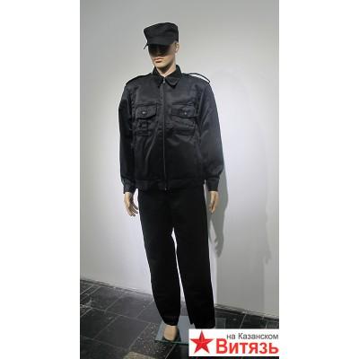 """Костюм """"Альфа"""" куртка, брюки (тк.смесовая) черный"""