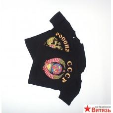Футболка с гербом России, черная