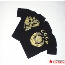 Футболка СССР, черная с принтом