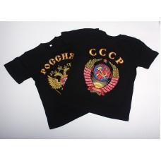Футболка с гербом СССР, черная