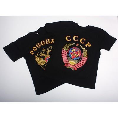 Футболка с гербом СССР, черный цвет