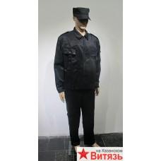 """Костюм """"Охран"""" куртка, брюки (тк.смесовая) черный"""