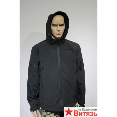 Куртка софтшелл черный цвет