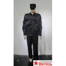 """Костюм """"Вымпел"""" куртка, брюки (тк.смесовая) черный"""