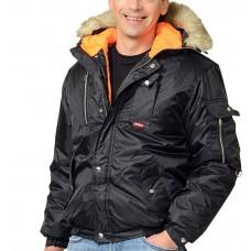 "Куртка ""Аляска"" мужская укороченная, черная"