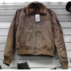 Куртка милитари песочная мужская укороченная