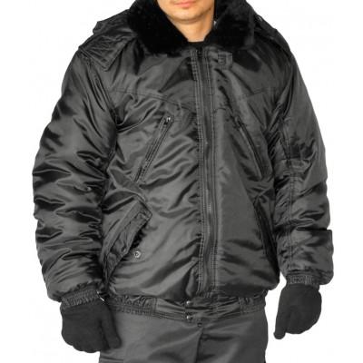"""Куртка мужская """"Охрана"""" зимняя черная укороченная"""