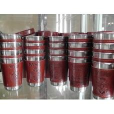 Набор стаканов в чехле с тиснением