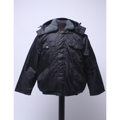 "Куртка мужская ""Охрана"" зимняя, черная (с капюшоном)"